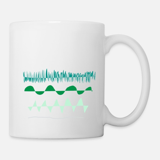 Occupation Mugs & Drinkware - Green wave, nature Friday for future climate sketch - Mug white