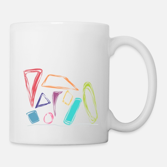 Occupation Mugs & Drinkware - colorful shapes rectangle circle trapezoidal oval triangle - Mug white