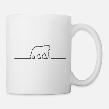 Grizzly bear silhouette line - Tasse