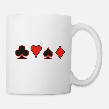Pokerface Poker Cards Karten Pik Heart Herz Karo - Mug
