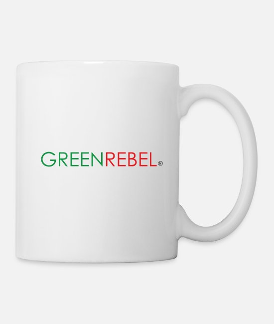 Nature Mugs & Drinkware - Greenrebel Rebellion Nature Environment Vegan Animal - Mug white