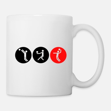 Volleyball symbole bicolor - Tasse