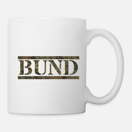 Federal Mugs & Drinkware - Bundeswehr Flecktarn - Mug white