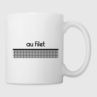 Au filet tennis - Personnalisable - Mug blanc