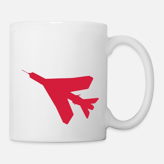 English Mugs & Drinkware - BAC English Electric Lightning Silhouette - Mug white