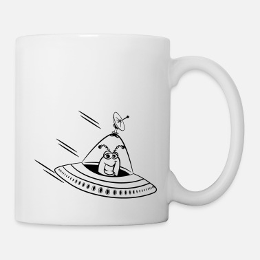 Saucer ufo funny cartoon cool - Mug