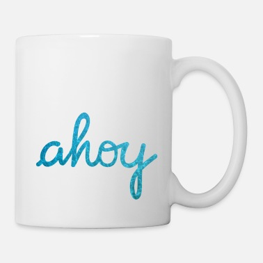 Ahoy Ahoy Typography waves - Mug