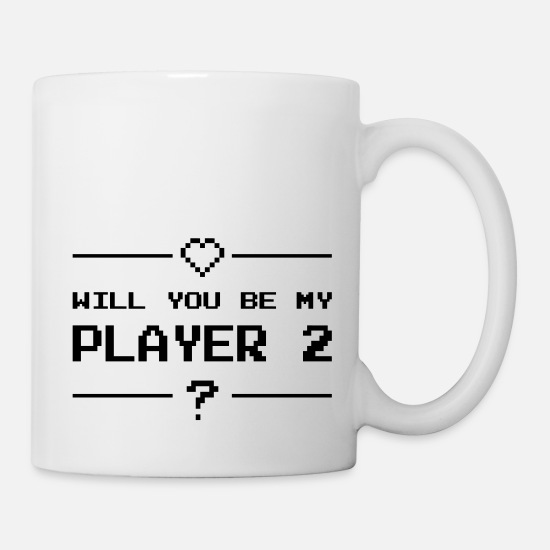 S'aimer Mugs et récipients - Will you be my player 2 - Mug blanc