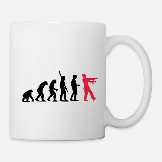 Development Mugs & Drinkware - Zombie Evolution (two-color) - Mug white