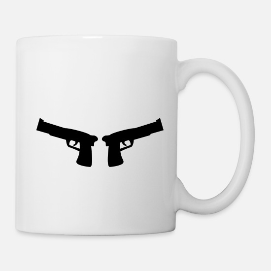 Symbol  Mugs & Drinkware - guns - Mug white