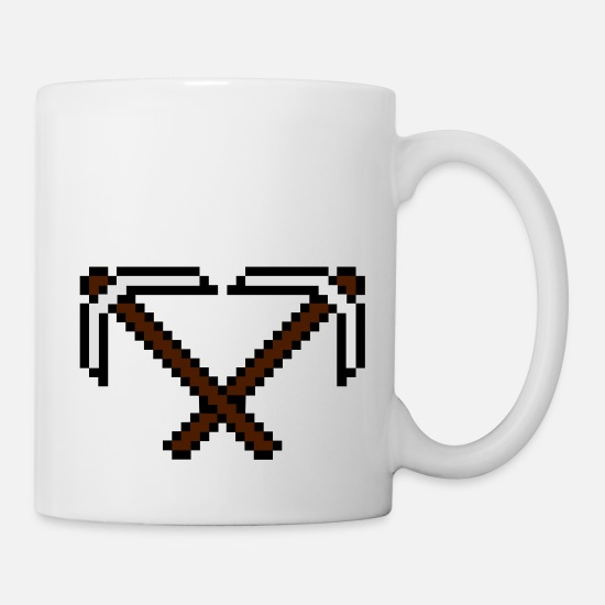 Clip Art Mugs & Drinkware - 2 cross pixel retro computer game build gamer game - Mug white
