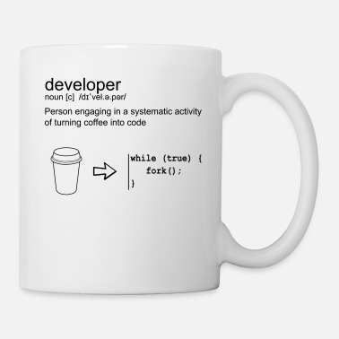 Geek Developer & coffee - Mug blanc