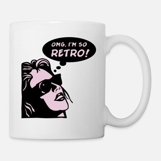 Birthday Mugs & Drinkware - so retro - Mug white