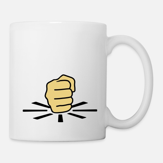 Finger Mugs & Drinkware - Fist - Mug white