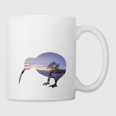 Kiwi New Zealand Backpacker Travail et voyage - Mug blanc