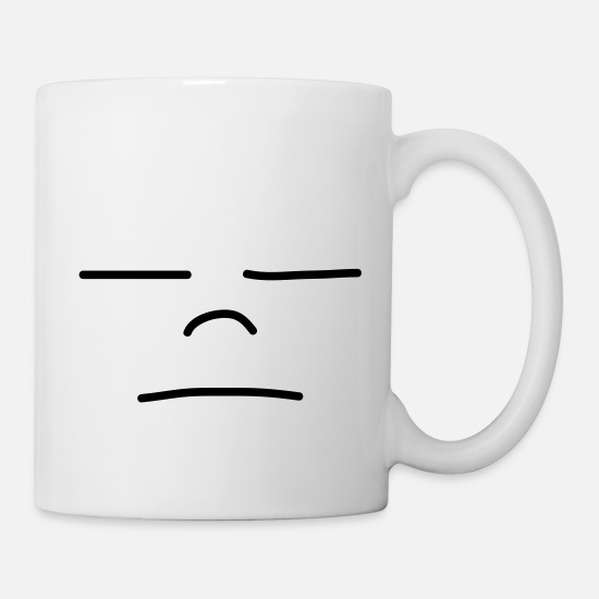 Sleep Mugs & Drinkware - Sad Face - Mug white