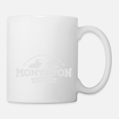 Powder Montafon Mountains white - Tasse