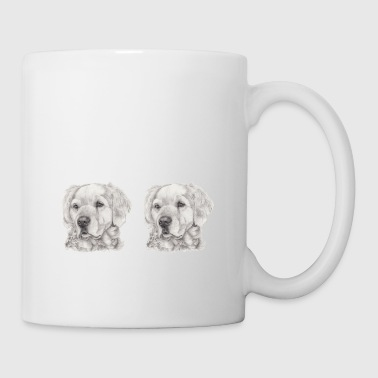 Fin panorama golden retriever - Mug blanc