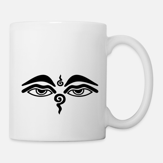 Buddhism Mugs & Drinkware - Buddha Eyes - Mug white