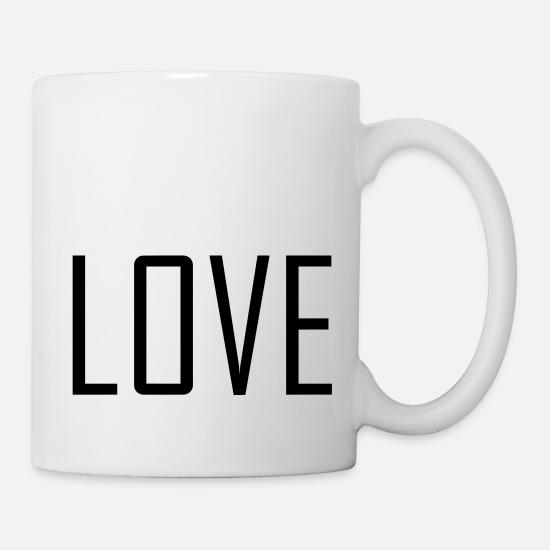 Love Mugs & Drinkware - LOVE. - Mug white