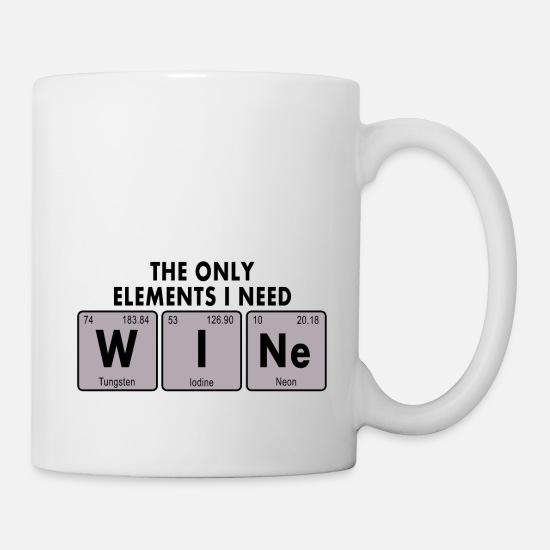 Wein Chemische Formel Tasse Weiß