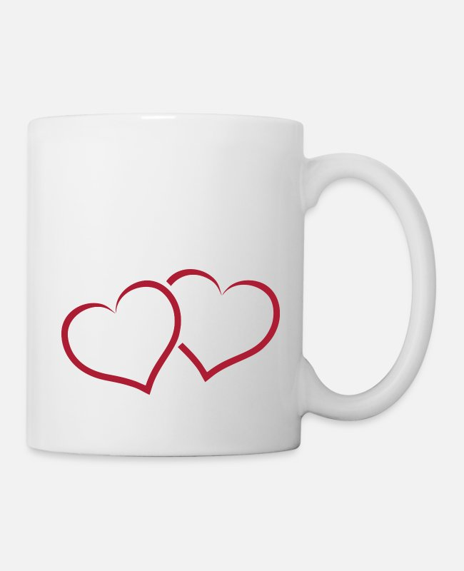 Heart Mugs & Drinkware - Two hearts united very romantic as a gift - Mug white