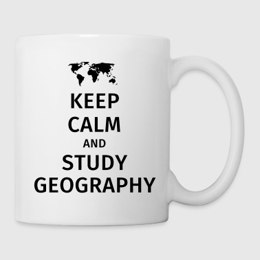 keep calm and study geography - Mug