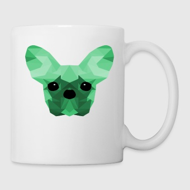 Fransk Bulldog Low Poly Design turkis - Kop/krus