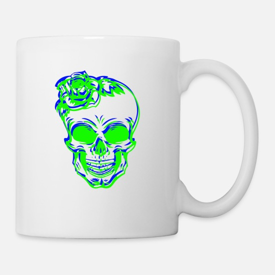 Skull And Bones Mugs & Drinkware - Skull Shirt Skull Skull - Mug white