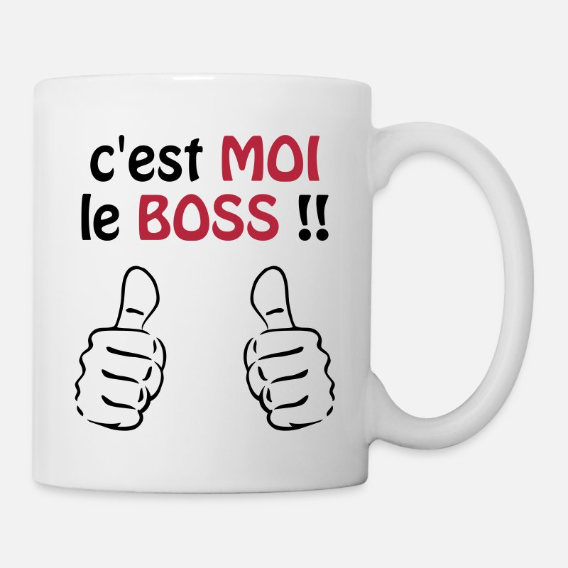 Citations Mugs et gourdes - C'est moi le boss ! Humour / Citation / Blague - Mug blanc