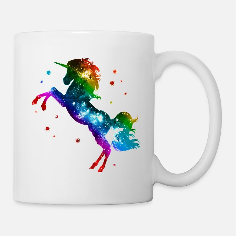 Gay Pride Mugs & Drinkware - Unicorn rainbow, galaxy, space, gay, fantasy - Mug white
