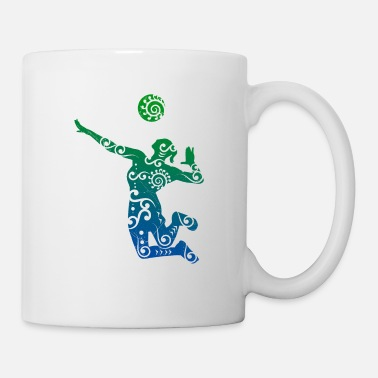 Volleyballbus Volleyball player Maori style gift idea - Mug