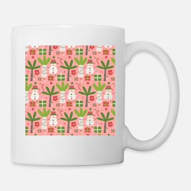 Pattern Christmas Neck Gator Palm Tree Snowman Tropical - Mug