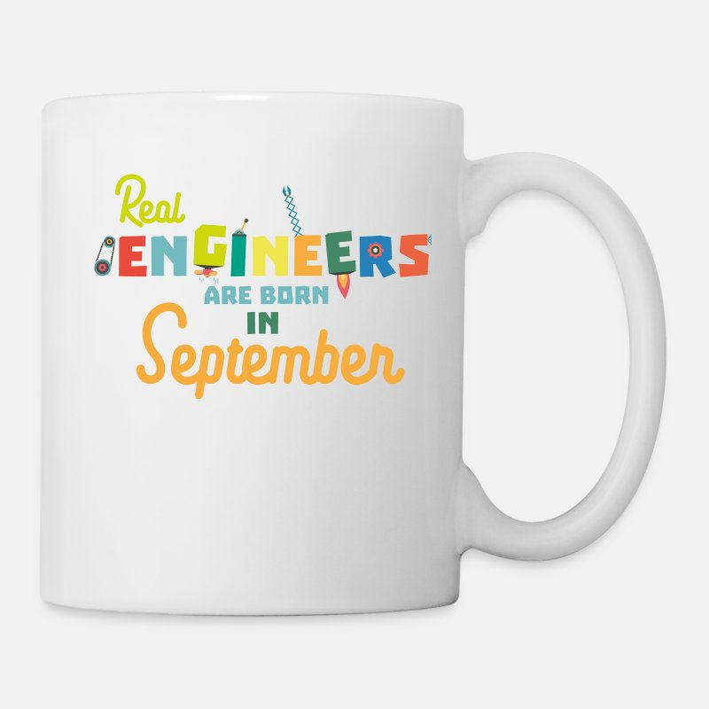 Baby Mugs & Drinkware - Engineers are born in September St500-Design - Mug white