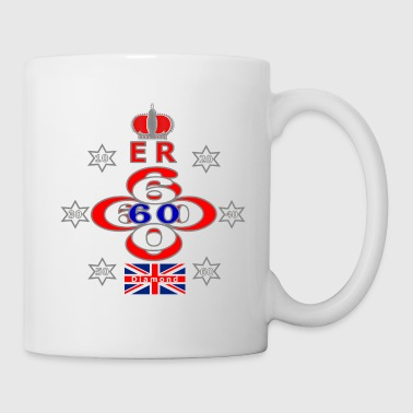Queens diamond jubilee 60 years stars - Mug