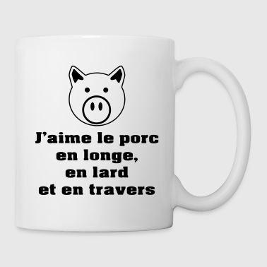 longe-lard-travers-NB - Mug blanc