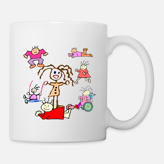 Boy Mugs & Drinkware - Scribble Kids Collection - Mug white