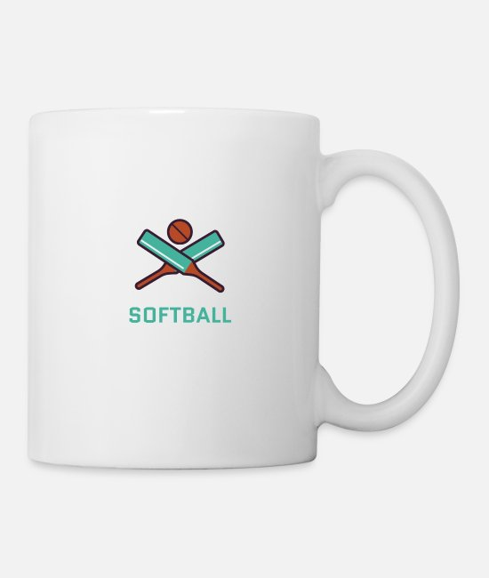 I Love Retro Mugs & Drinkware - Softball - Mug white