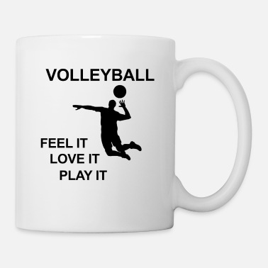 Volley Cool motif de volleyball noir - Mug