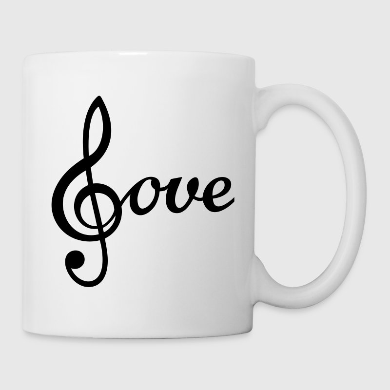 I love Music Treble Clef  - Mug