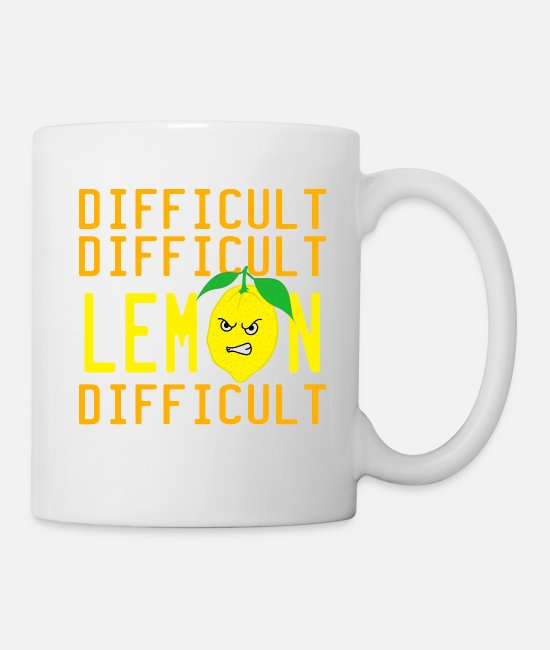 "Mad Mugs & Drinkware - A Nice Quote Tee For You ""Difficult Difficult - Mug white"