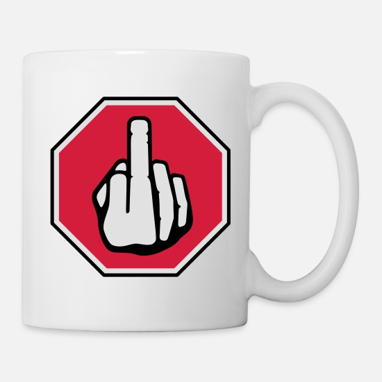 Mood Mugs & Drinkware - Stop sign - Mug white