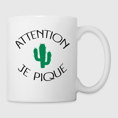 Attention Je Pique - Mug blanc