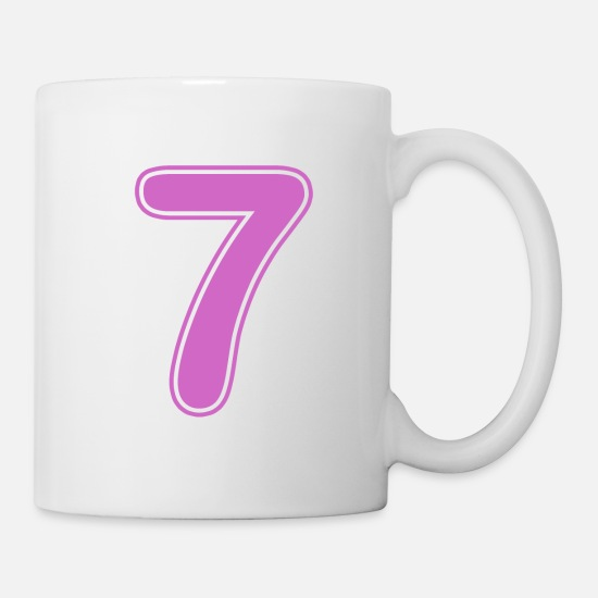 Number Mugs & Drinkware - Number - Shirt number - 7 - Mug white