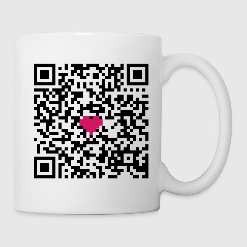 I love you! QR Code - funktioniert - Tasse