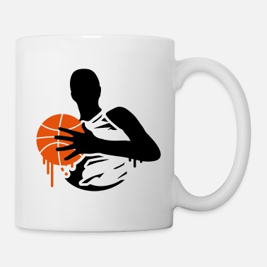 Basketball Player A basketball player with a basketball  - Mug