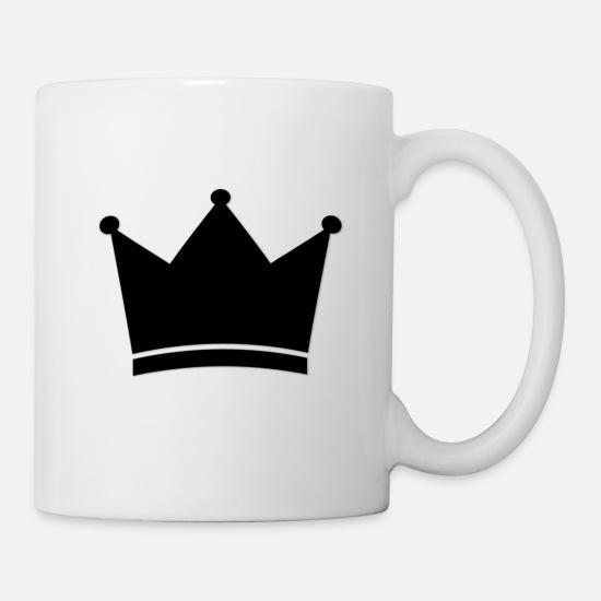 Small Mugs & Drinkware - Crown - Mug white