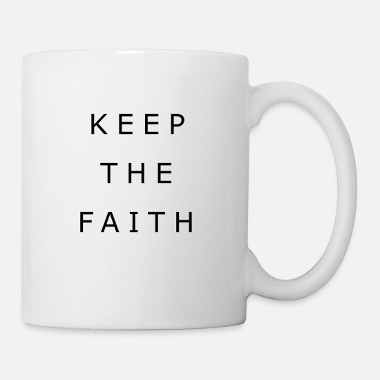 Think Mugs & Drinkware - Faith God Jesus Faith Faith Church Bible - Mug white