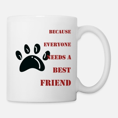 Friends Best friend - dog - paw print - Mug