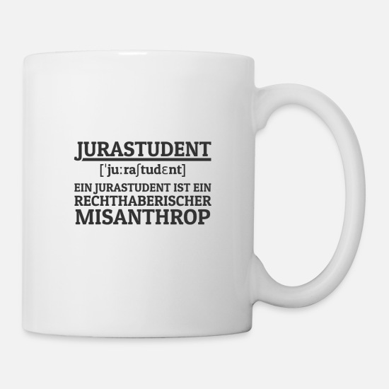 Provocation Mugs & Drinkware - Law student dogmatic misanthropic student - Mug white